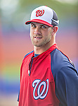 23 February 2013: Washington Nationals outfielder Bryce Harper warms up prior to a Spring Training Game against the New York Mets at Tradition Field in Port St. Lucie, Florida. The Mets defeated the Nationals 5-3 in their Grapefruit League Opening Day game. Mandatory Credit: Ed Wolfstein Photo *** RAW (NEF) Image File Available ***