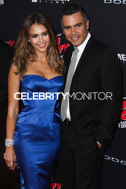 HOLLYWOOD, LOS ANGELES, CA, USA - AUGUST 19: Jessica Alba, Cash Warren at the Los Angeles Premiere Of Dimension Films' 'Sin City: A Dame To Kill For' held at the TCL Chinese Theatre on August 19, 2014 in Hollywood, Los Angeles, California, United States. (Photo by Xavier Collin/Celebrity Monitor)