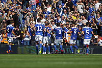 Birmingham celebrate the first goal of the game scored by Jacques Maghoma of Birmingham City during Birmingham City vs Norwich City, Sky Bet EFL Championship Football at St Andrews on 4th August 2018