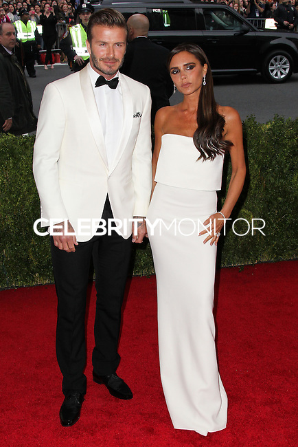 "NEW YORK CITY, NY, USA - MAY 05: David Beckham, Victoria Beckham at the ""Charles James: Beyond Fashion"" Costume Institute Gala held at the Metropolitan Museum of Art on May 5, 2014 in New York City, New York, United States. (Photo by Xavier Collin/Celebrity Monitor)"