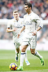 Real Madrid's Cristiano Ronaldo (r) and Toni Kroos during La Liga match. February 18,2017. (ALTERPHOTOS/Acero)
