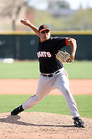 Andrew Romo, San Francisco Giants 2010 minor league spring training..Photo by:  Bill Mitchell/Four Seam Images.