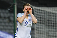Ellen White of England Women celebrates after she scores the opening goal of the game during the Women's Friendly match between England Women and Austria Women at stadium:mk, Milton Keynes, England on 10 April 2017. Photo by PRiME Media Images / David Horn.