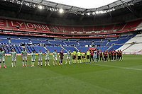 16th July 2020; Nice, France; Veolia Trohy Football friendly, OGC Nice versus Celtic FC;   OGC Nice and Celtic FC players line up