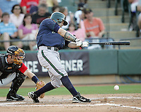 New Orleans Zephyrs OF Jesus Feliciano on Sunday June 1st at Dell Diamond in Round Rock, Texas. Photo by Andrew Woolley / Four Seam Images.