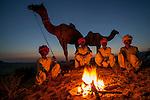 Evening fire, Pushkar Fair, India