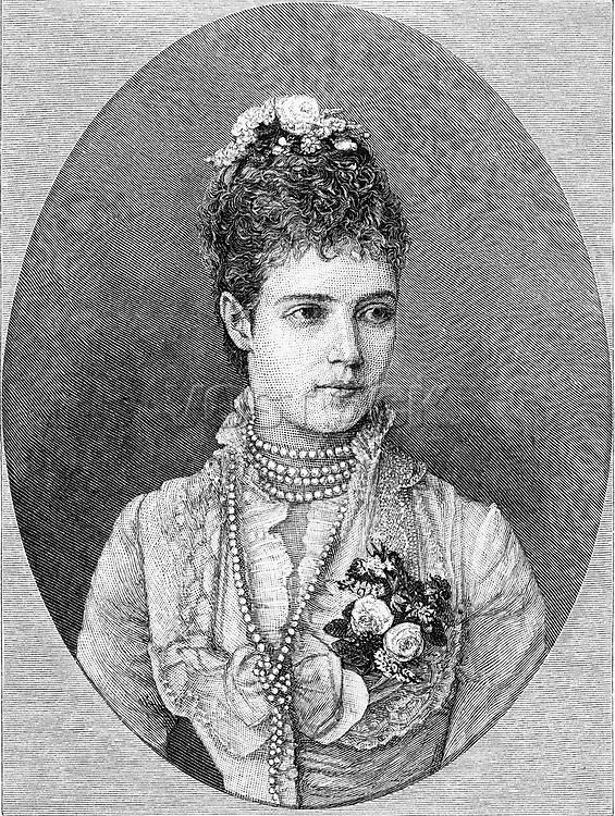 MARIA FYODOROVNA /n(1847-1928). N e Marie Sophie Frederikke Dagmar. Princess of Denmark. Wife of Tsar Alexander III. Wood engraving, 1883.