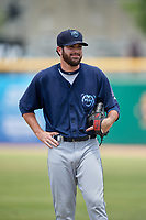 Mobile BayBears pitcher Adam Hofacket (23) during a Southern League game against the Montgomery Biscuits on May 2, 2019 at Riverwalk Stadium in Montgomery, Alabama.  Mobile defeated Montgomery 3-1.  (Mike Janes/Four Seam Images)