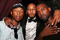NEW YORK, NY - SEPTEMBER 7, 2016 2 Pharrell, Swizz Beatz & Kanye West backstage at the G.O.O.D. Music show September 7, 2016 at the Highline Ballroon in New York City. Photo Credit: Walik Goshorn / Mediapunch