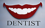 Dental smile on bill board Connecticut, New England States, six-state region, Connecticut, Massachusetts, Rhode Island, thriving tourist industry, If you don't like the weather, wait ten minutes, Fine Art Photography by Ron Bennett, Fine Art, Fine Art photography, Art Photography, Copyright RonBennettPhotography.com ©
