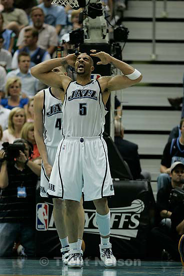 Utah Jazz vs. Los Angeles Lakers, game six, NBA playoffs second round, Friday, May 16, 2008. Utah Jazz forward Carlos Boozer (5)