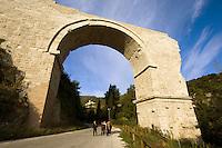 Italien, Umbrien, Augustus-Brücke in Narni