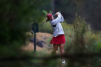 CHAPEL HILL, NC - OCTOBER 13: Kenzie Wright of the University of Alabama tees off at UNC Finley Golf Course on October 13, 2019 in Chapel Hill, North Carolina.