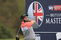 Andrew Johnston (ENG) on the 3rd tee during Round 4 of the Sky Sports British Masters at Walton Heath Golf Club in Tadworth, Surrey, England on Sunday 14th Oct 2018.<br /> Picture:  Thos Caffrey | Golffile<br /> <br /> All photo usage must carry mandatory copyright credit (&copy; Golffile | Thos Caffrey)