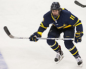 Tyler Irvine (Merrimack - 11) - The visiting Merrimack College Warriors defeated the Boston College Eagles 6 - 3 (EN) on Friday, February 10, 2017, at Kelley Rink in Conte Forum in Chestnut Hill, Massachusetts.