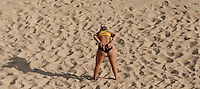 Germany's Laura Ludwig in action at the Beach Volleyball World Tour Grand Slam, Foro Italico, Rome, 21 June 2013.<br /> UPDATE IMAGES PRESS/Isabella Bonotto