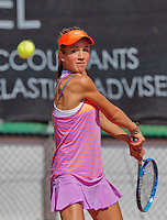 Netherlands, Rotterdam August 05, 2015, Tennis,  National Junior Championships, NJK, TV Victoria,  Julie Belgraver<br /> Photo: Tennisimages/Henk Koster