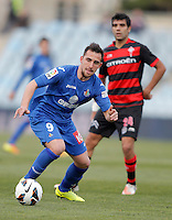 Getafe's Paco Alcacer during La Liga match. February 16, 2013. (ALTERPHOTOS/Alvaro Hernandez) /Nortephoto