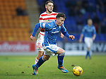 St Johnstone v Hamilton Accies....016.01.16  SPFL  McDiarmid Park, Perth<br /> Craig Thomson runs at goal<br /> Picture by Graeme Hart.<br /> Copyright Perthshire Picture Agency<br /> Tel: 01738 623350  Mobile: 07990 594431