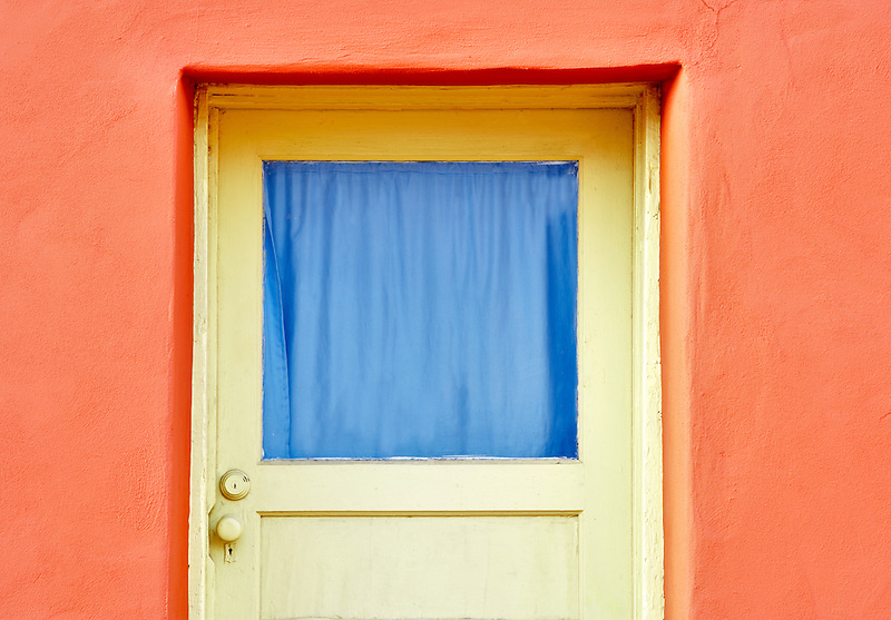 Old door with bright colors. Tucson. Arizona