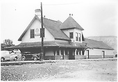 Ridgway depot from the front.<br /> RGS  Ridgway, CO