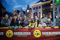 The people of Mechelen are also called 'Maneblussers' or 'those who extinguish the moon'... hence the 'Maneblusser Criterium'.<br /> The fact that the local brewery has a Maneblusser beer and is sponsoring the event might also be a factor in the name-giving of this crit...<br /> <br /> Post-Tour criterium Mechelen (Belgium) 2016