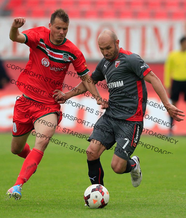 Fudbal Jelen Super League season 2014-2015 <br /> Donji Srem v Crvena Zvezda<br /> Sasa Stojanovic (R) and Igor Jelic<br /> Novi Sad, 29.04.2015.<br /> foto: Srdjan Stevanovic/Starsportphoto&copy;