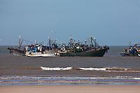 Afrique/Afrique du Nord/Maroc/Essaouira: retour des bateaux de pêche