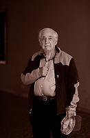 """John Rogers Searle (/sɜːrl/; born 31 July 1932) is an American philosopher. He is currently Willis S. and Marion Slusser Professor Emeritus of the Philosophy of Mind and Language and Professor of the Graduate School at the University of California, Berkeley. John R. Searle, nato a Denver (Colorado) nel 1932, occupa un ruolo di primo piano nella comunità filosofica internazionale. Formatosi a Oxford, alla scuola dei """"filosofi del linguaggio ordinario"""". Pordenone, 14 settembre 2017. © Leonardo Cendamo"""