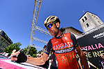 Vincenzo Nibali (ITA) Bahrain-Merida at sign on before the start of Stage 19 of the 100th edition of the Giro d'Italia 2017, running 191km from San Candido/Innichen to Piancavallo, Italy. 26th May 2017.<br /> Picture: LaPresse/Gian Mattia D'Alberto | Cyclefile<br /> <br /> <br /> All photos usage must carry mandatory copyright credit (&copy; Cyclefile | LaPresse/Gian Mattia D'Alberto)
