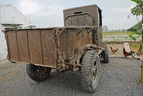 Asia, Vietnam, near Ninh Binh. Old truck.