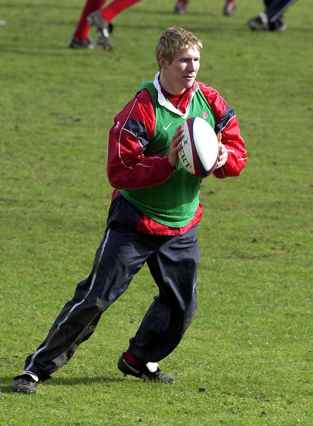 Photo. Richard Lane. .England Training at Pennyhill Hotel, Bagshot. 06/03/2003.Ollie Smith.