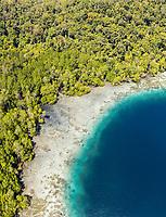 aerial view of Raja Ampat Islands, West Papua, Indonesia, Pacific Ocean