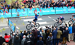 Home hero Harry Tanfield (GBR) Harry Tanfield Canyon -Eisberg from the breakaway group in action during Stage 1 of the Tour de Yorkshire 2018 running 182km from Beverley to Doncaster, England. 3rd May 2018.<br /> Picture: ASO/Alex Broadway | Cyclefile<br /> <br /> <br /> All photos usage must carry mandatory copyright credit (&copy; Cyclefile | ASO/Alex Broadway)