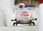 16 December 2010:  Lyndon Rush pilots a 2-man bobsled for Canada in a training run prior to the Viessmann FIBT World Cup Championships in Lake Placid, New York, USA. Mandatory Credit: Ed Wolfstein Photo
