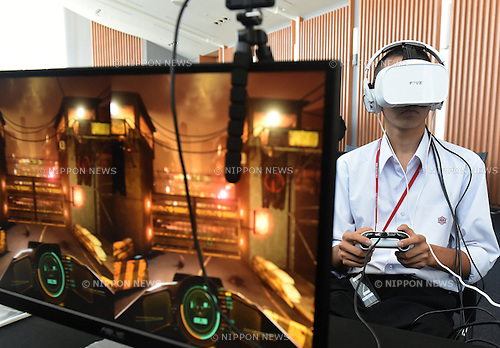 October 27, 2016, Tokyo, Japan - The Digital Contents Expo 2016, a trade fair showcasing the cutting-edge digital content technology, kicks off on a four-day run at the National Museum of Emerging Science and Innovation in Tokyo on Thursday, October 27, 2016.  (Photo by Natsuki Sakai/AFLO) AYF -mis-
