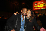 "Dule Hill (All My Children ""Simon"", Psych & West Wing) and Tracie Thoms (Rent, Cold Case, Harry's Law), star in Broadway's Stick Fly at the Cort Theatre, New York City, New York on December 17, 2011. (Photo by Sue Coflin/Max Photos)"