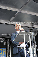 Peoples March for the NHS - Central London, Saturday 6th Sept 2014 - <br /> <br /> A Doctor who spoke in support of the NHS<br /> <br /> <br /> <br /> <br /> Photographer: Jeff Thomas - Jeff Thomas Photography - 07837 386244/07837 216676 - www.jaypics.photoshelter.com - swansea1001@hotmail.co.uk