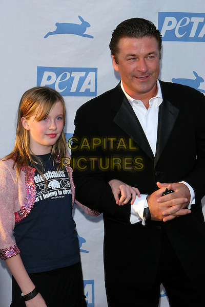 ALEC BALDWIN & DAUGHTER IRELAND.PETA's 25th Anniversary Gala and Humanitatian Awards Show held at Paramount Pictures, Hollywood,  CA..September 10th, 2005.half length black suit child family.Photo credit: Jacqui Wong/AdMedia.www.capitalpictures.com.sales@capitalpictures.com.© Capital Pictures.