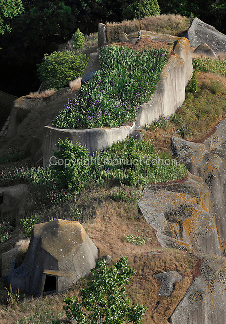 High Angle view of roof of Bears' Building, Parc Zoologique de Paris, or Zoo de Vincennes, (Zoological Gardens of Paris, also known as Vincennes Zoo), 1934, by Charles Letrosne, 12th arrondissement, Paris, France, pictured on May 5, 2011 in the evening. In November 2008 the 15 hectare Zoo, part of the Museum National d'Histoire Naturelle (National Museum of Natural History) closed its doors to the public and renovation works will start in September 2011. The Zoo is scheduled to re-open in April 2014. Picture by Manuel Cohen.