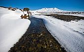 Waikato stream & Mount Ruapehu, Tongariro National Park.