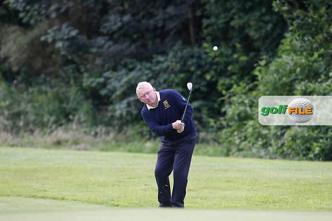 TJ Burns(Nenagh) on the 11th green during the Semi-Finals of the Munster Bruen &amp; Shield Finals at East Clare Golf Club on Sunday 19th July 2015.<br /> Picture:  Golffile | Thos Caffrey All photo usage must carry mandatory copyright credit (&copy; Golffile | Thos Caffrey)