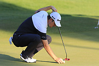 Justin Rose (ENG) on the 18th green during Thursday's Round 1 of the 2018 Turkish Airlines Open hosted by Regnum Carya Golf &amp; Spa Resort, Antalya, Turkey. 1st November 2018.<br /> Picture: Eoin Clarke | Golffile<br /> <br /> <br /> All photos usage must carry mandatory copyright credit (&copy; Golffile | Eoin Clarke)