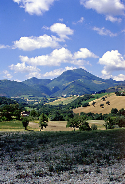 Looking towards the Apennines mountains, Italy