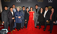 "LOS ANGELES, CA. November 04, 2018: ""Crazy Rich Asians"" stars Harry Shum Jr., Ronny Chieng, Bradford Simpson, Lisa Lu, Nico Santos, Michelle Yeoh, Constance Wu, Henry Golding, Nina Jacobson, Jon M. Chu & John Penotti  at the 22nd Annual Hollywood Film Awards at the Beverly Hilton Hotel.<br /> Picture: Paul Smith/Featureflash"