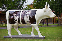 The Beatles White Album 40th Anniversary Tribute.  Margaret River, Western Australia (Monday, March 22, 2010) A Moo-ving event. CowParade has become the largest and most successful public art event in the world. CowParade has captured the imagination of more than a million people world wide and has been seen i over 60 cities including New York, London, Tokyo, Paris and Sydney..CowParade margaret River us an udderly fantastic event and is the first region in the world to have the rights to host artistic event. The event is a natural fit for the region considering cows have formed a fundamental part of the social fabric since the early 1920's...Photo: joliphotos.com