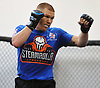 Matt Frevola works during a training session at Longo-Weidman MMA in Garden City on Tuesday, Jan. 9, 2018. The 27-year-old mixed martial arts fighter from Huntington will make his UFC debut this Sunday (Jan. 14) in St. Louis against opponent Marco Polo Reyes .