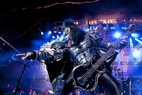 KISS - Gene Simmons - performing live at the Forum in London UK - 4 July 2012.  Photo credit: Ashley Maile/IconicPix  *NO WEBSITES*