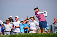 Brianna Do (USA) watches her tee shot on 16 during Thursday's first round of the 72nd U.S. Women's Open Championship, at Trump National Golf Club, Bedminster, New Jersey. 7/13/2017.<br /> Picture: Golffile | Ken Murray<br /> <br /> <br /> All photo usage must carry mandatory copyright credit (&copy; Golffile | Ken Murray)