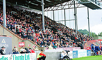 Lincoln City fans watch their team in action from the Selenity Stand<br /> <br /> Photographer Andrew Vaughan/CameraSport<br /> <br /> The EFL Sky Bet League One - Lincoln City v Sunderland - Saturday 5th October 2019 - Sincil Bank - Lincoln<br /> <br /> World Copyright © 2019 CameraSport. All rights reserved. 43 Linden Ave. Countesthorpe. Leicester. England. LE8 5PG - Tel: +44 (0) 116 277 4147 - admin@camerasport.com - www.camerasport.com